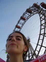 At the Riesenrad in the Wiener Prater, July 2006, the wheel of Orson Welles in The third man.