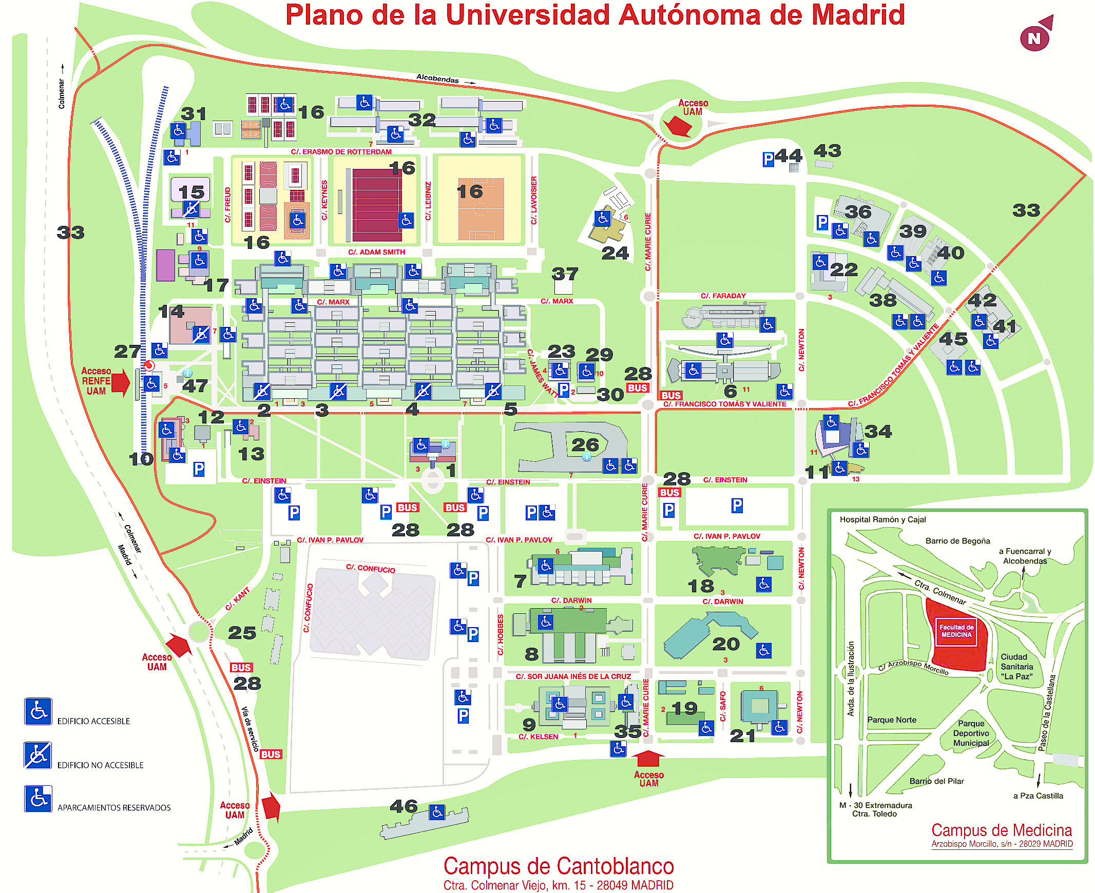 Universidad aut noma de madrid from the web of elena and for Universidad de madrid