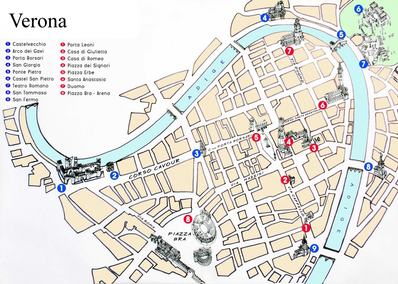 verona tourist map verona tourist attractions map verona tourist